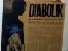 articolo su diabolik sulla stampa dell'epoca