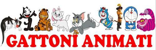 Gattoni amimati gatti a cartoni animati in mostra