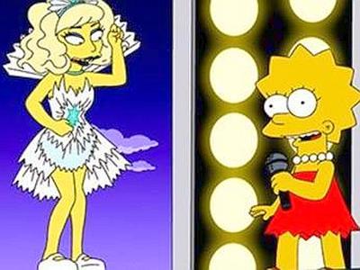 Lady Gaga e Lisa Simpson