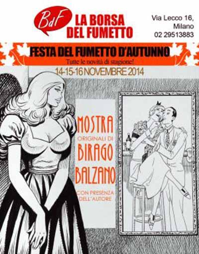 Locandina Mostra dedicata a Birago Balzano