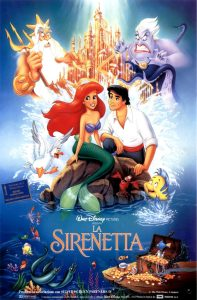 "Poster for the movie ""La sirenetta"""