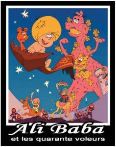 "Poster for the movie ""Alì Babà e i quaranta ladroni"""