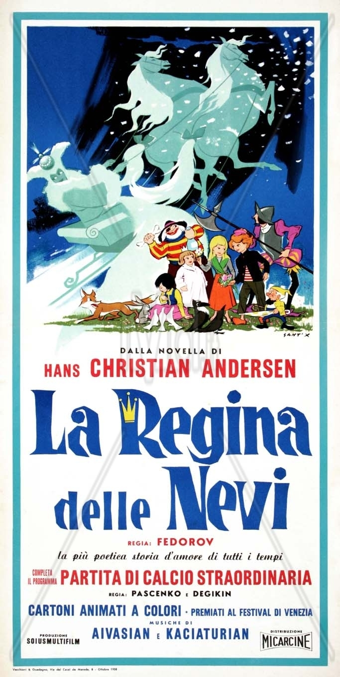 "Poster for the movie ""La regina delle nevi"""