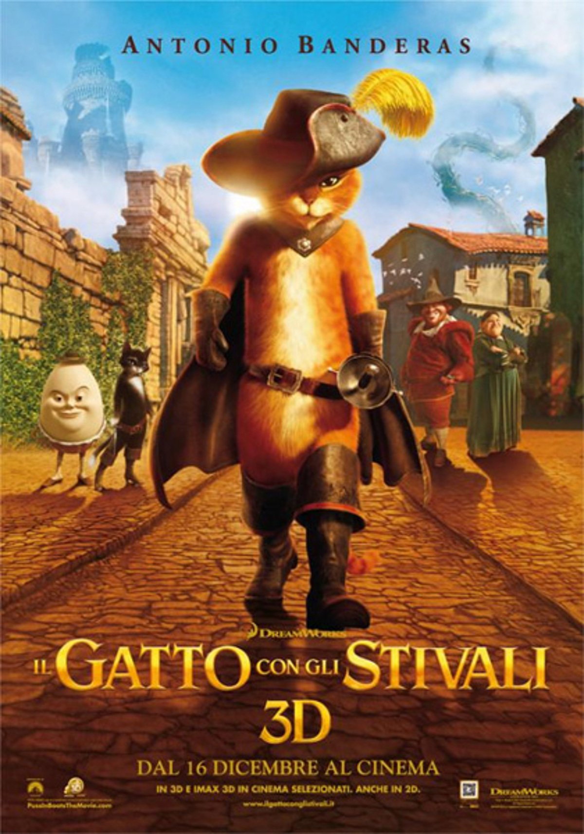 "Poster for the movie ""Il gatto con gli stivali"""